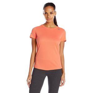 Adidas Orange Climalite Performance Mesh Shirt Med